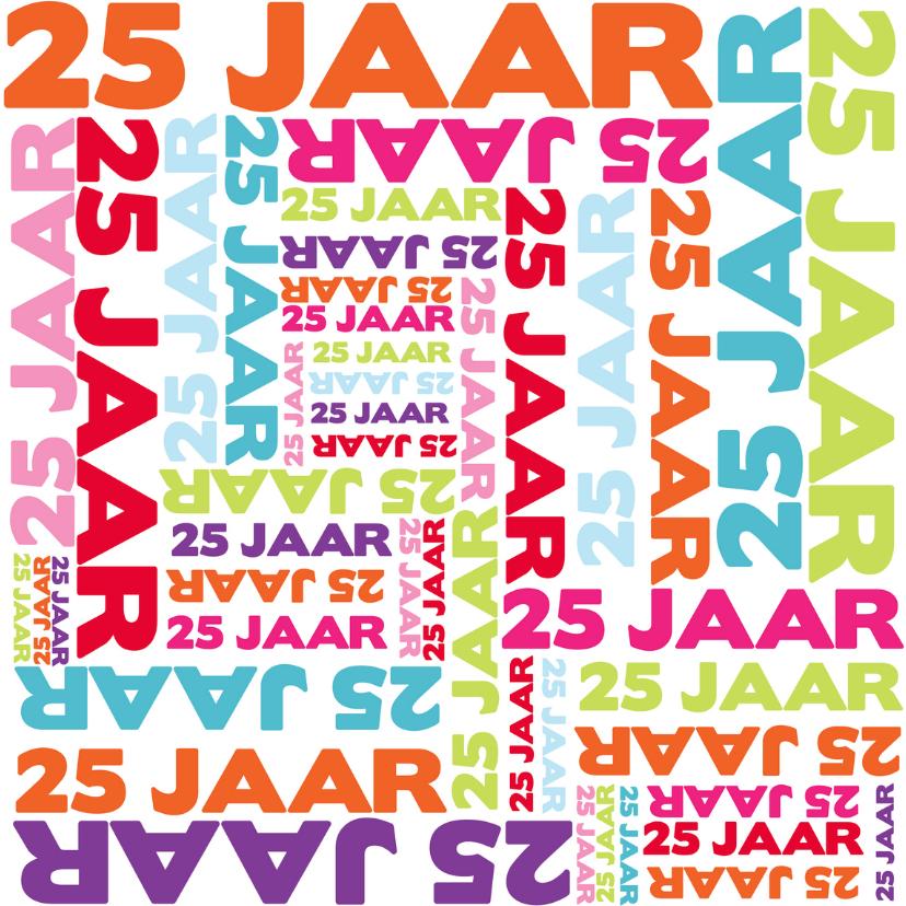 Jaar typografie jubileumkaarten kaartje go