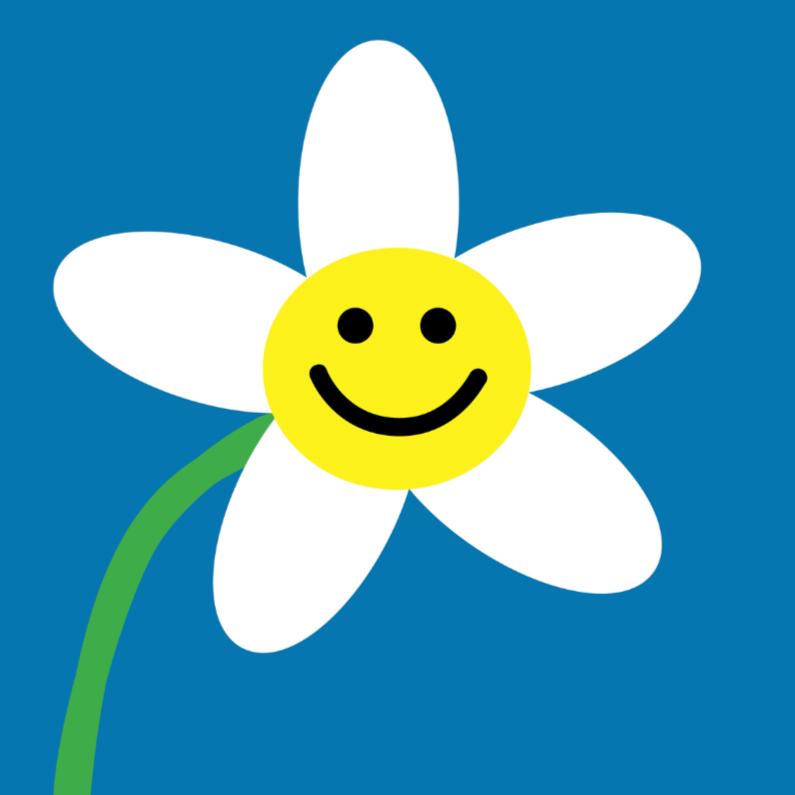 4k Eenvoudig Vrolijk Bloemetje Bloemenkaarten Kaartje2go