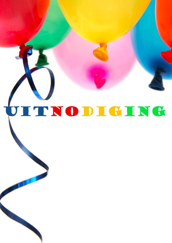uitnodiging foto balloon
