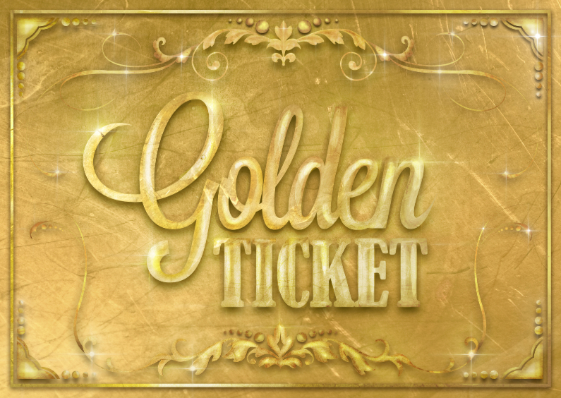 Golden Ticket Uitnodigingen Kaartje2go