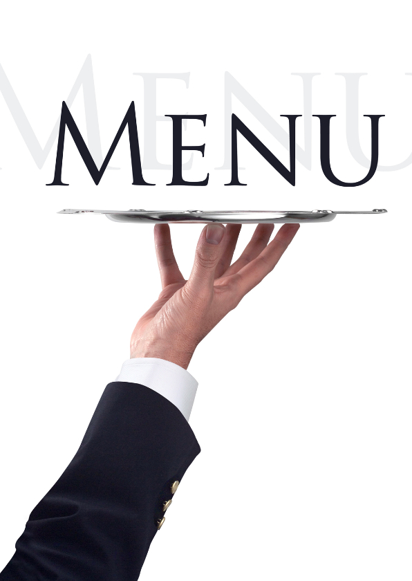 Menukaart waiter - Menukaarten - Kaartje2go