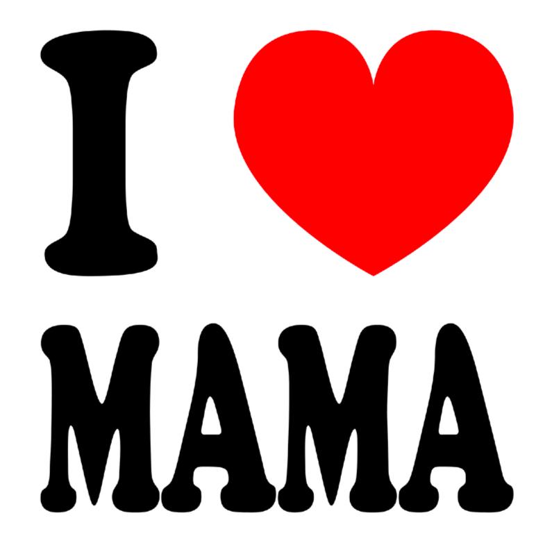 Moederdag kaarten - Moederdag kaart I love mama
