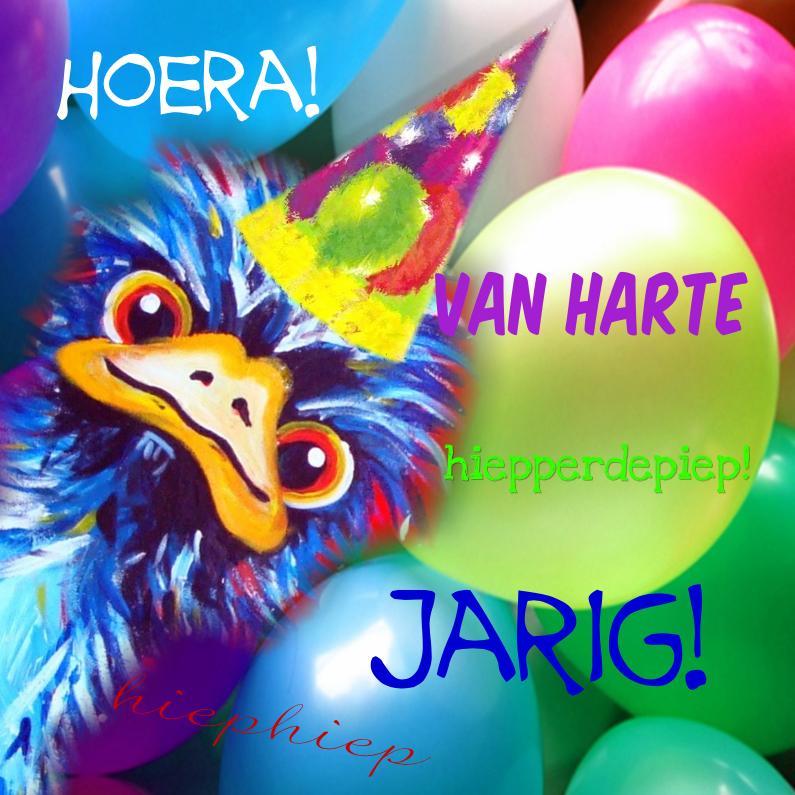 Struisvogel Jarig Verjaardagskaarten Kaartje2go