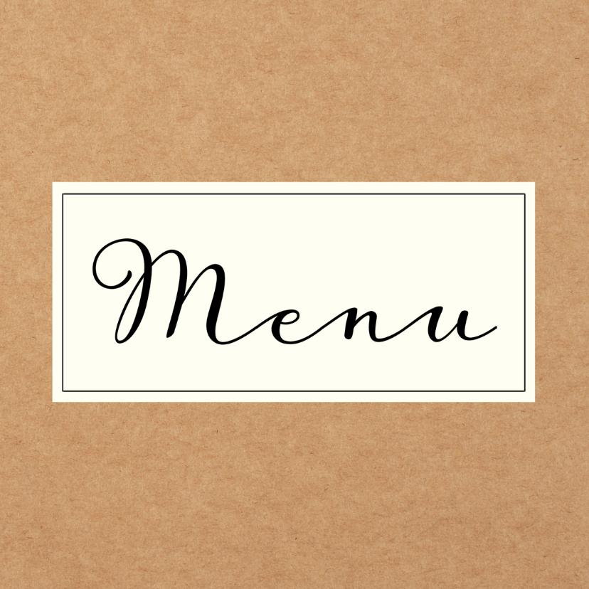 eigen menukaart maken