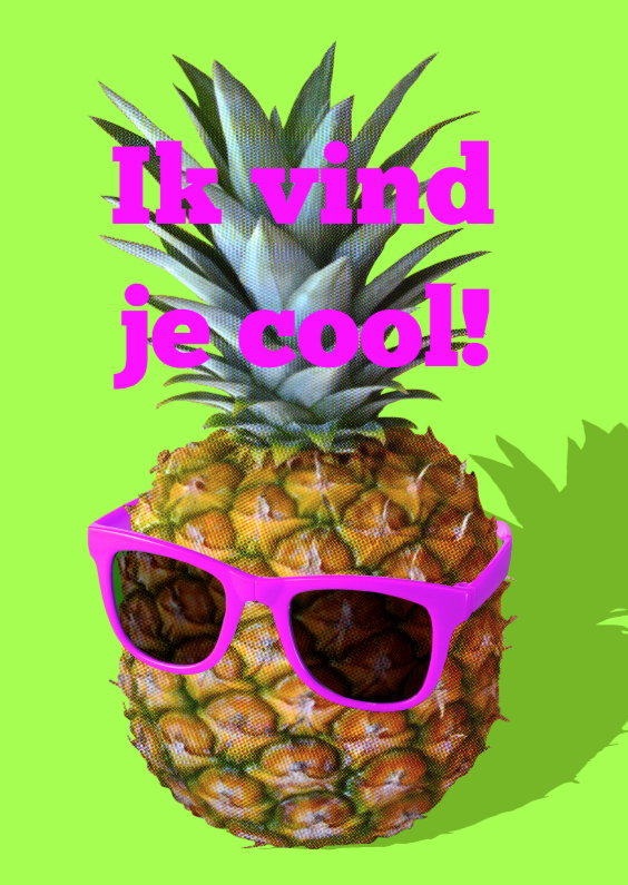 Ansichtkaarten - Ananas cool