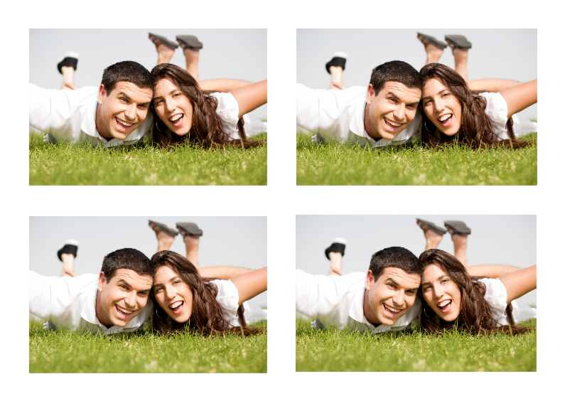 Ansichtkaarten - Leuke Fotokaart 4 foto's