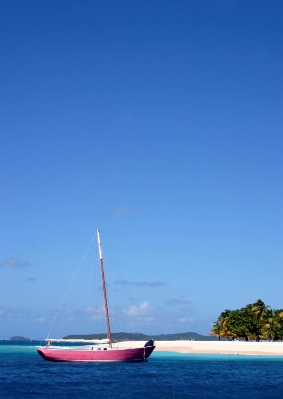 Ansichtkaarten - zeilboot aan strand