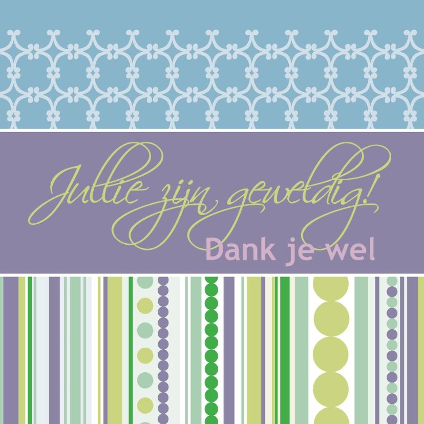 Bedankkaartjes - Achtergrond schrijfbalk paars