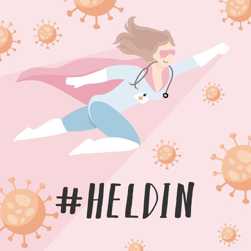 Bedankkaartjes - Bedank kaart voor alle heldinnen verpleegsters