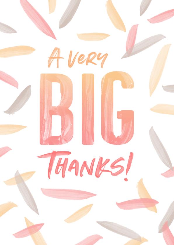 Bedankkaartjes - Bedankkaart Big Thanks