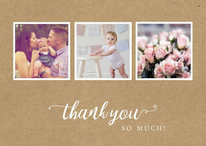 Bedankkaartjes - Bedankkaart - fotocollage thank you