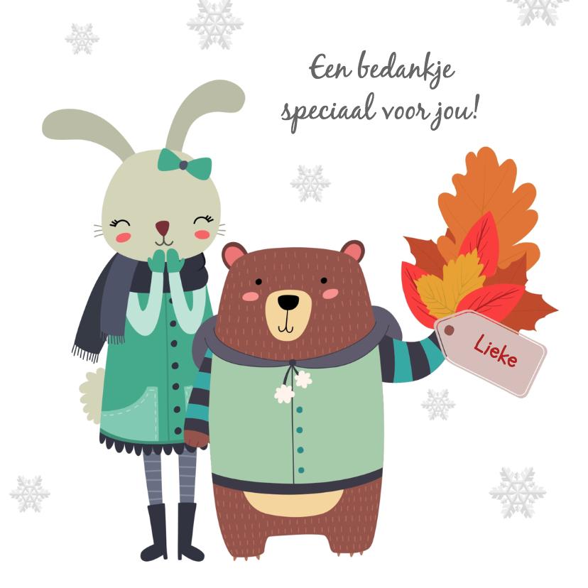 Bedankkaartjes - Bedankkaart herfst