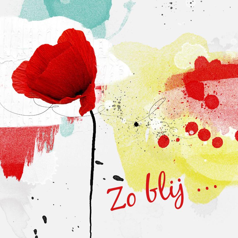 Bedankkaartjes - Bedankkaart roos creatieve achtergrond