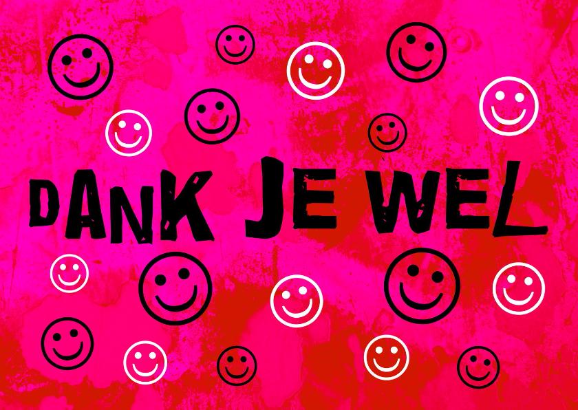 Bedankkaartjes - Bedankkaartje smile IW
