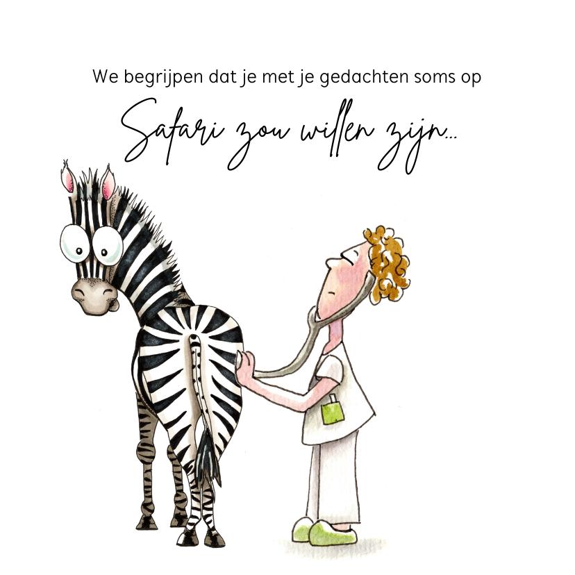 Bedankkaartjes - Bedankkaartjes dokter met zebra