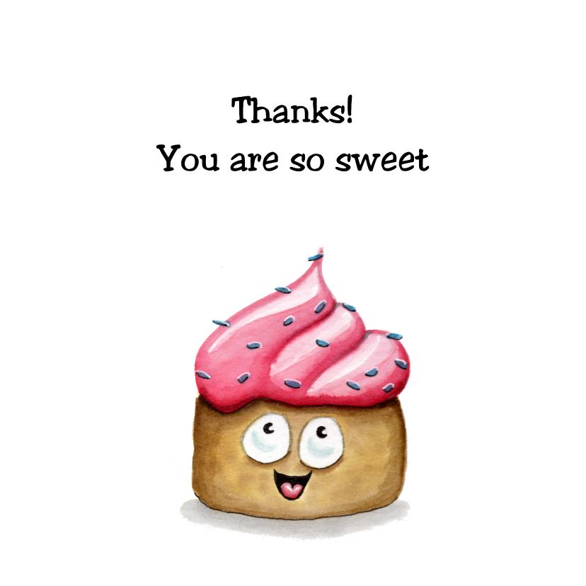 Bedankkaartjes - Bedankkaartjes sweet cupcake