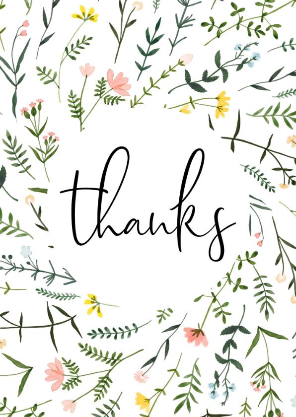 Bedankkaartjes - Bedankkaartjes | Thanks wilde bloemen