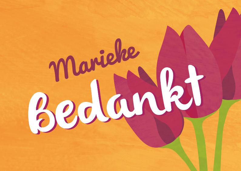 Bedankkaartjes - Bedankt bloemen - tulpen