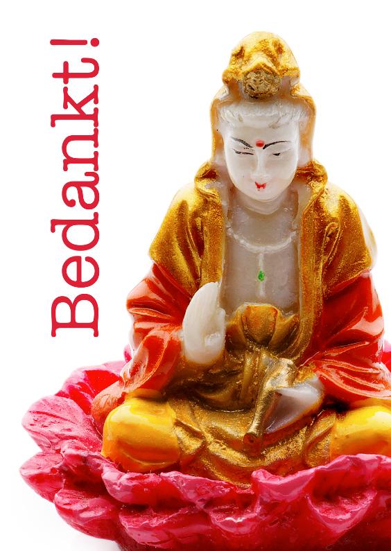 Bedankkaartjes - Bedankt - Boeddha