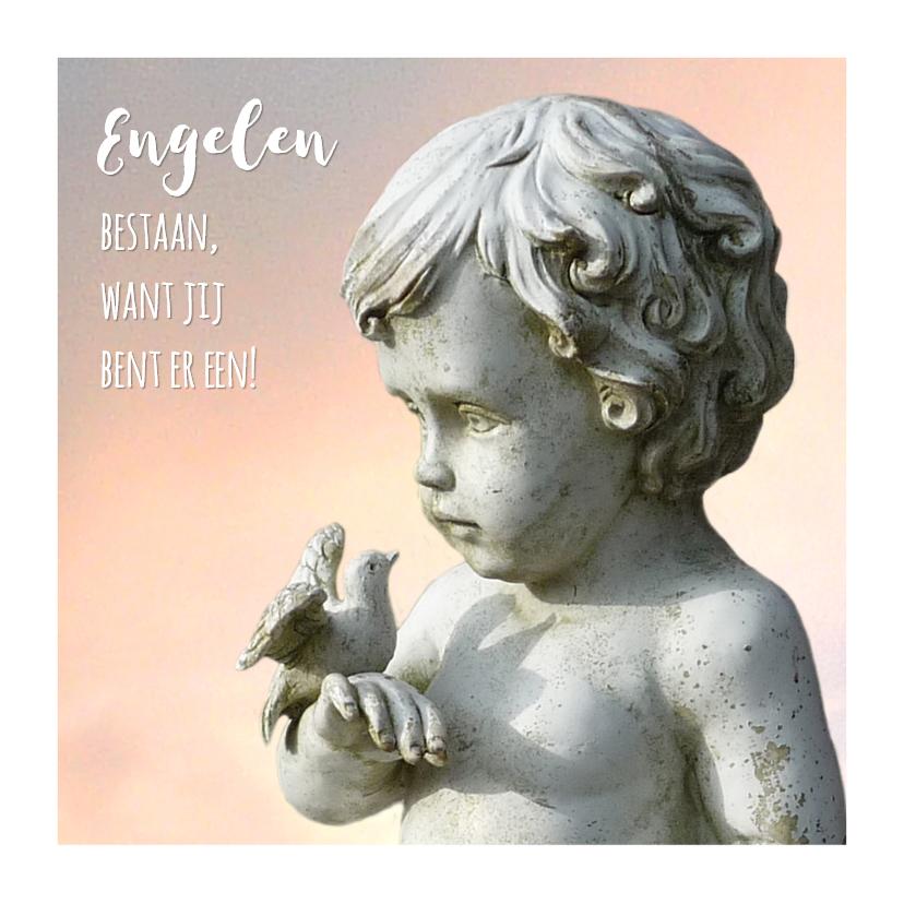 Bedankkaartjes - Bedankt Duif en Engel