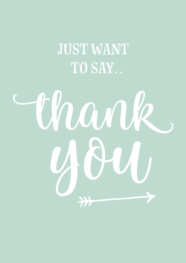 Bedankkaartjes - Bedankt - just want to say thank you