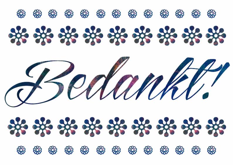 Bedankkaartjes - Bedankt kaart met bloemen