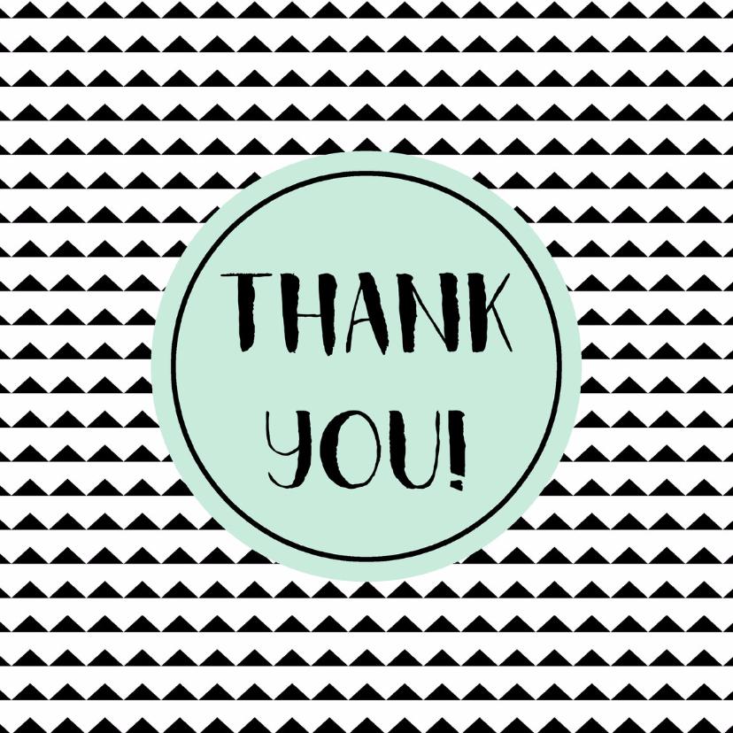 "Bedankkaartjes - Bedankt kaartje ""thank you"" - WW"