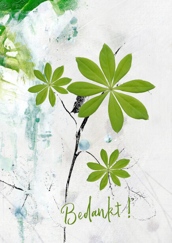 Bedankkaartjes - Bedankt lente groen