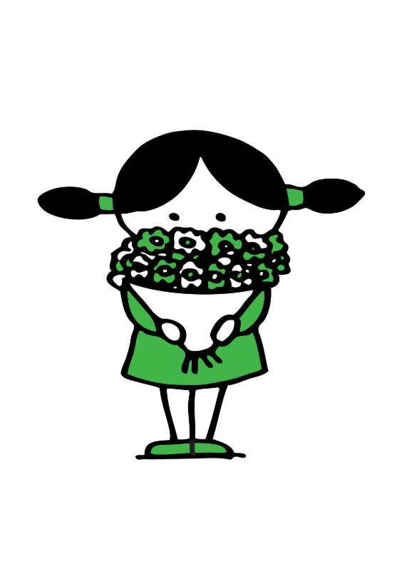 Bedankkaartjes - Bedankt  met bloemetje