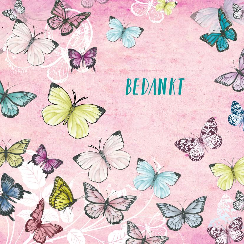 Bedankkaartjes - Bedankt met mooie vlinders
