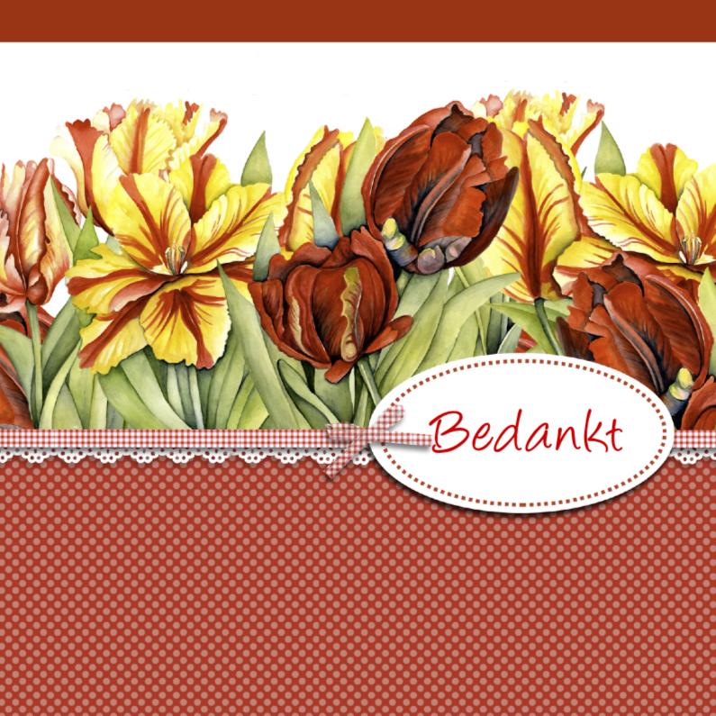 bedankt met tulpen   Bedankkaartjes   Kaartje2go