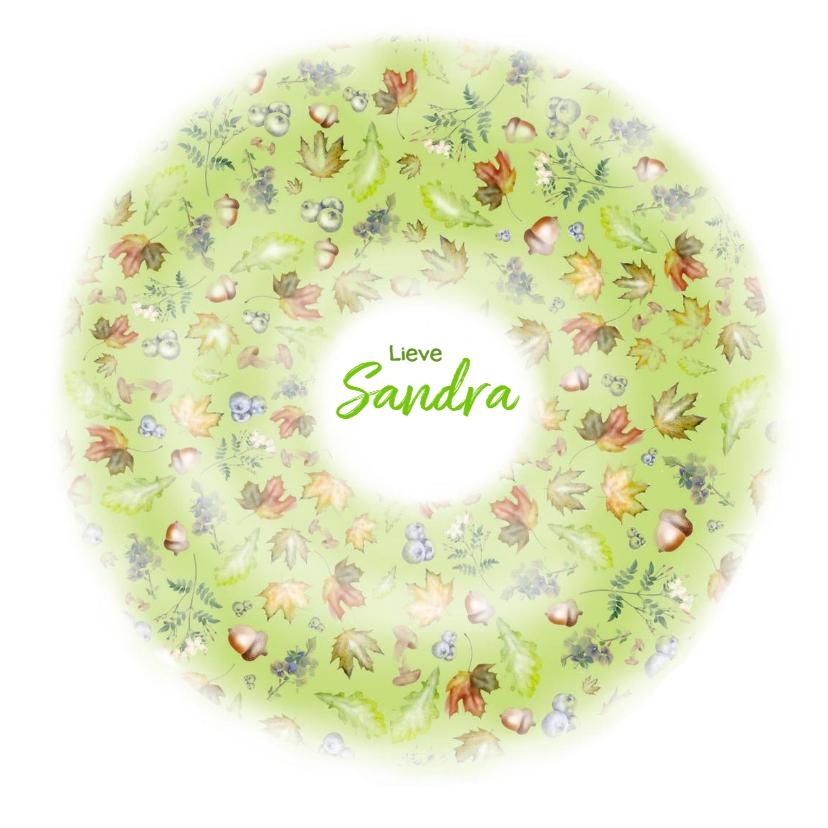 Bedankkaartjes - Bedankt - natuur cirkel