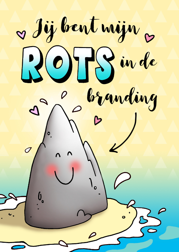 Bedankkaartjes - Bedankt rots in de branding