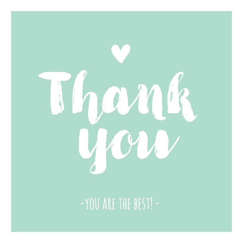 Bedankkaartjes - Bedankt - thank you modern