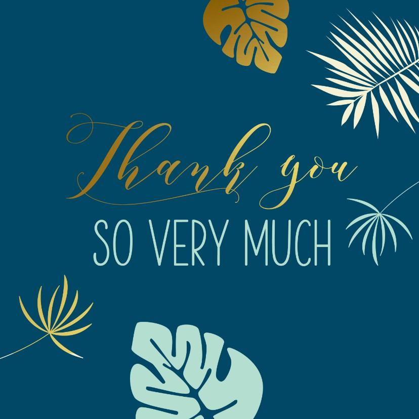 Bedankkaartjes - Bedanktkaart botanisch goud