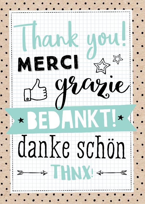 Bedankkaartjes - Bedanktkaart Kraft