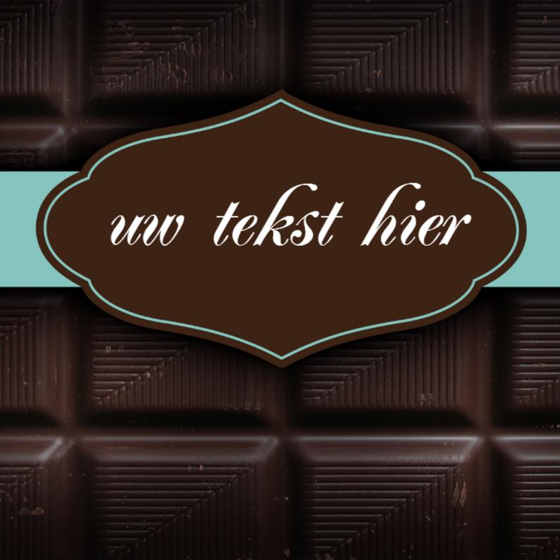 Bedankkaartjes - Chocoladereep wenskaart vierkant