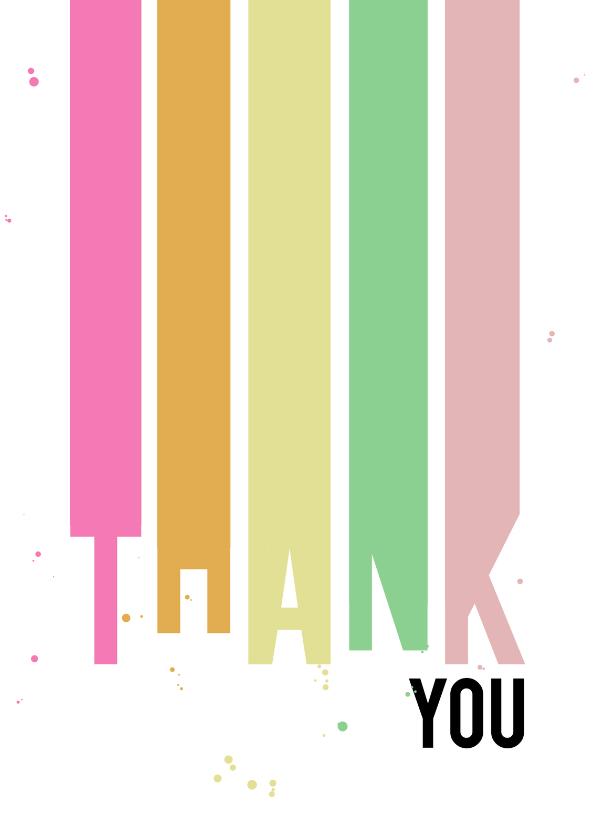 Bedankkaartjes - Leuke kleurrijke bedankkaart