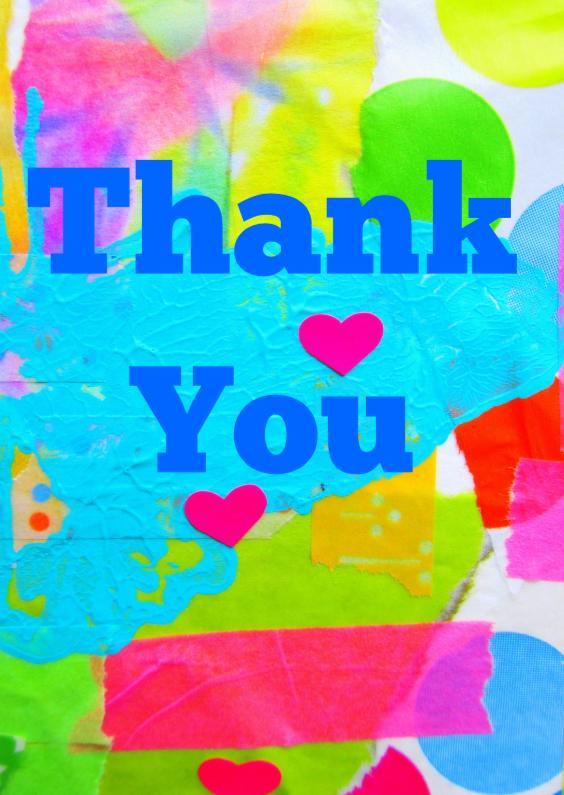 Bedankkaartjes - Thank You - Big Time