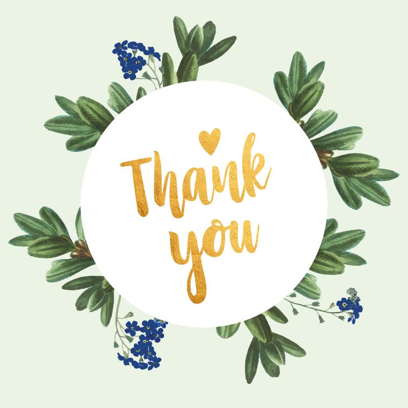 Bedankkaartjes - Thank you - botanische bedankkaart