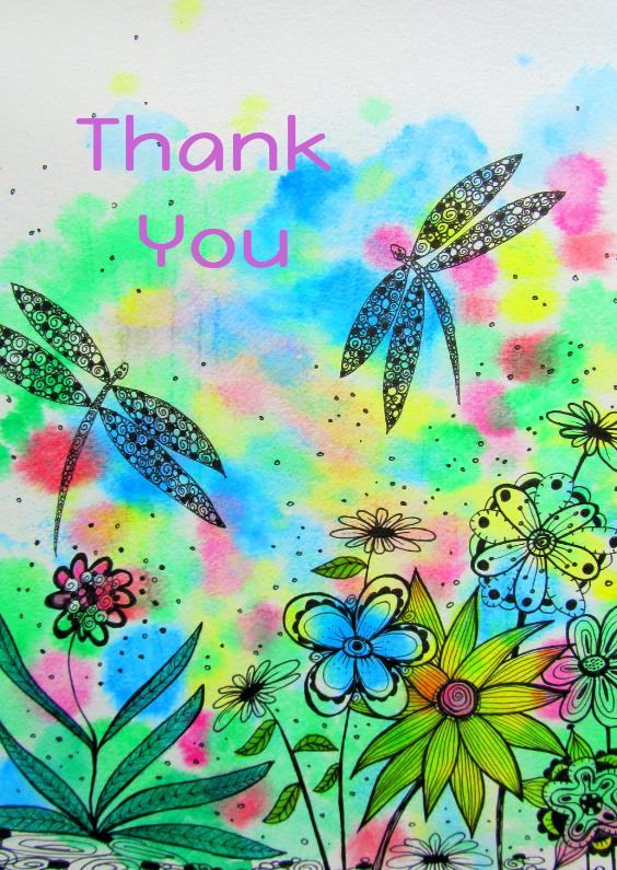 Bedankkaartjes - Thank you Dragonflies