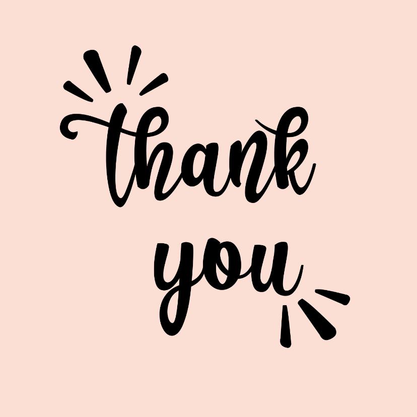 Bedankkaartjes - Thank you - positive - bedankkaart