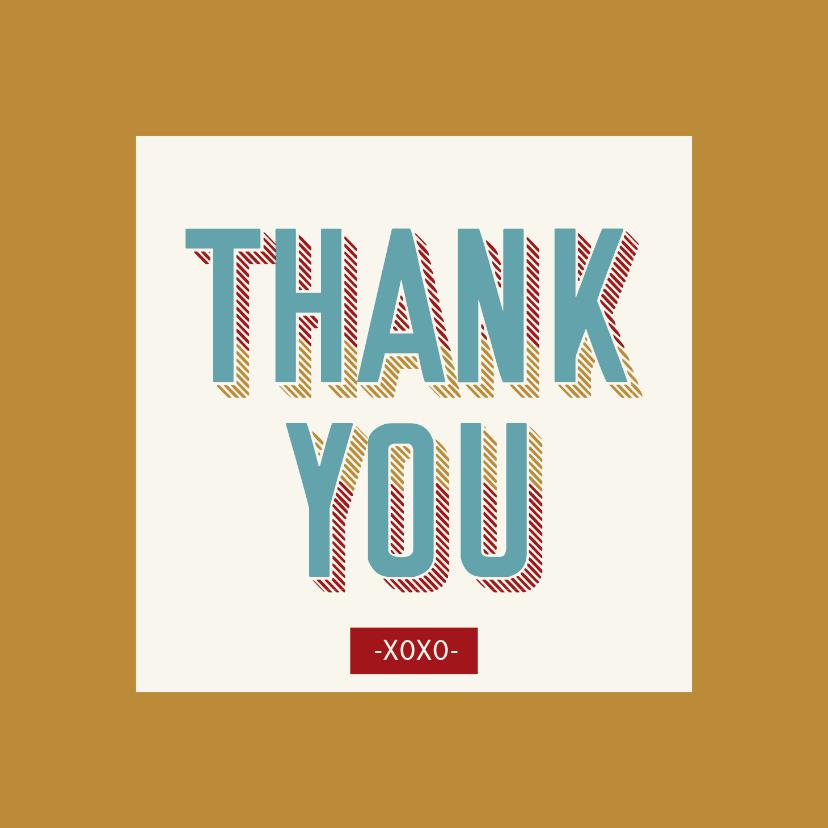 Bedankkaartjes - Thank you - retro - bedankkaart