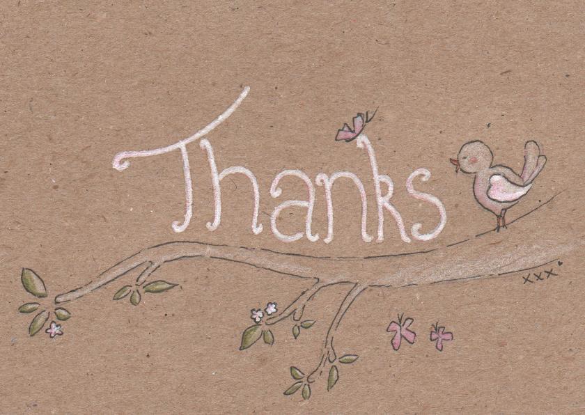 Bedankkaartjes - Thanks Vogeltje