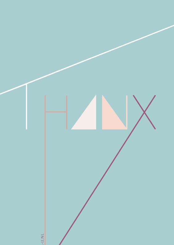 Bedankkaartjes - Thanx
