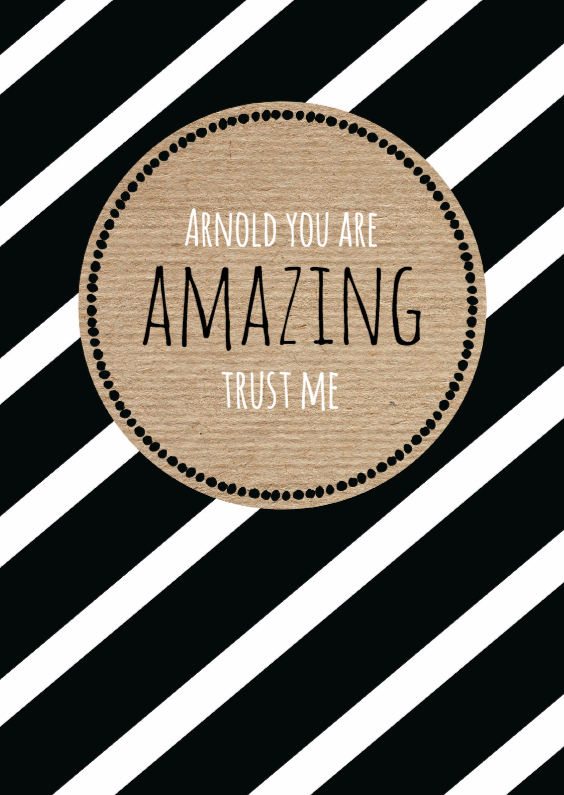 Bedankkaartjes - You are amazing, trust me