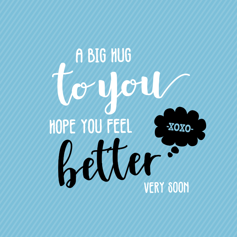 Beterschapskaarten - A big hug to you - beterschapskaart