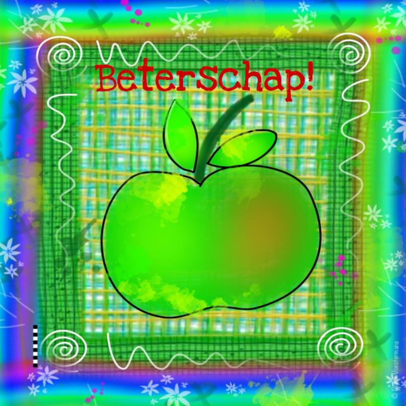 Beterschapskaarten - Beterschap appel kleurrijk