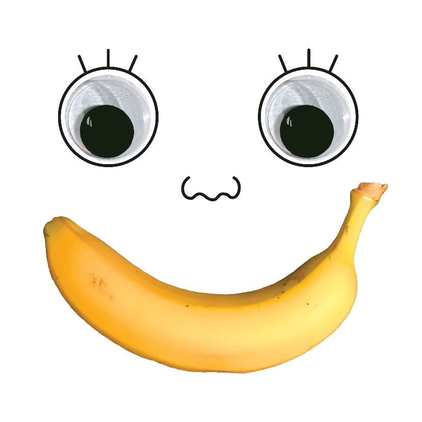 Beterschapskaarten - Beterschap banaan gezicht