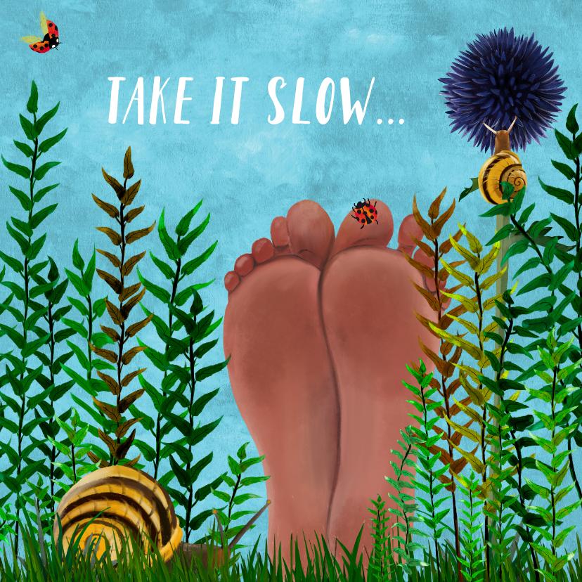 Beterschapskaarten - Beterschap Blote voeten in het gras